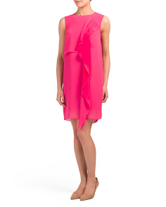 James Sheet Sleeveless Frill Dress