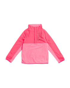 Girls Coldgear Phenom Half Snap Fleece Top