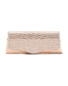 Wavy Glass Stone Clutch