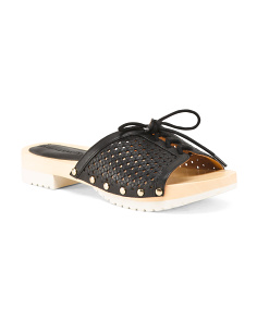Comfort Leather Slide Sandals