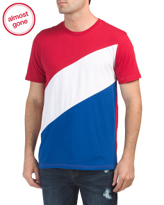 Diagonal Stars And Stripes Tee