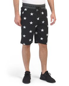 Star Print French Terry Shorts