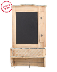 Reclaimed Wood Chalkboard Cabinet