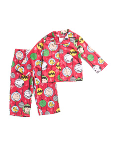 Toddler Boys Peanuts 2pc Microfleece Sleep Set