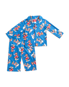 Toddler Boys 2pc Rudolph Microfleece Sleep Set
