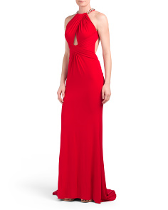 Halter Gown With Keyhole Cut Outs