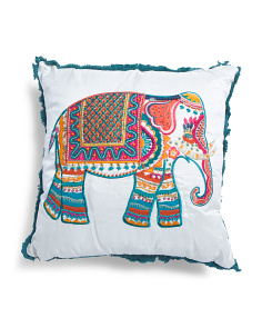 Made In India 18x18 Elephant Pillow