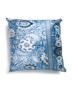 Made In India 20x20 Printed Velvet Pillow