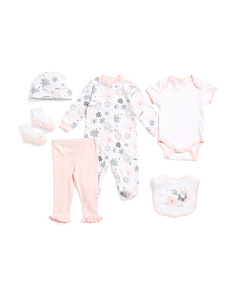 Baby Girls 6pc Floral Love Layette Set