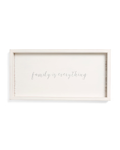 Framed Family Is Everything Wall Art