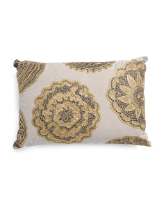 Made In India 14x20 Lace Medallion Pillow