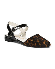 Animal Mary Jane Flats