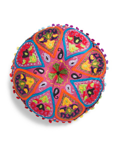 Made In India 16in Round Pillow
