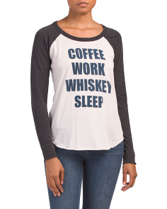 Coffee Work Baseball T-shirt