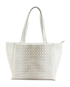 Valerie Perforated Leather Tote