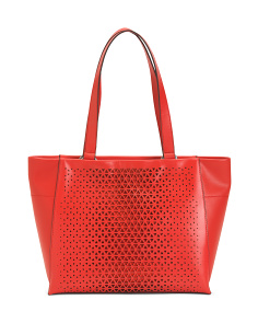 Leather Valerie Double Pocket Tote