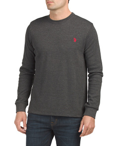 Heather Thermal Crew Neck Top