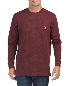 Long Sleeve Heather Thermal Top
