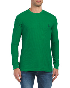 Long Sleeve Thermal Crew Neck Tee