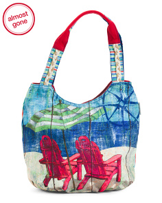 Seas The Day Fabric Printed Tote