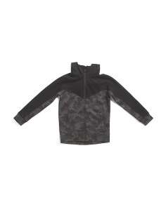 Big Boys Camo Hooded Jacket