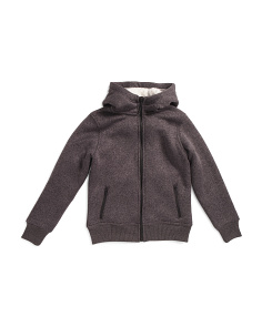 Big Boys Faux Sherpa Lined Hooded Jacket