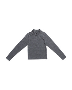 Youth Wool Half Zip Baselayer Top