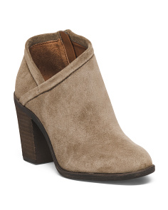 Crossover Suede Ankle Booties