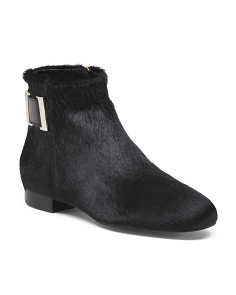 Made In Spain Haircalf Ankle Booties