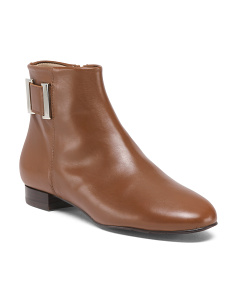 Made In Spain Leather Ankle Booties
