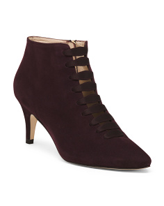 Made In Spain Suede Pointy Toe Booties