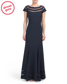 Illusion Trim Gown