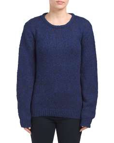 Juniors Tweed Knit Sweater