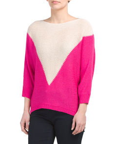Juniors Color Block Sweater