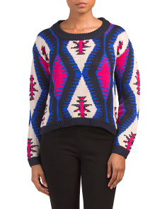 Juniors Jacquard Retro Sweater