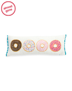 10x27 Donut Applique Pillow