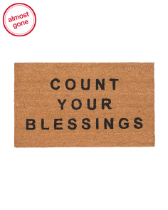 Made In India Count Your Blessings Door Mat