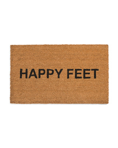 Made In India Coir Happy Feet Door Mat