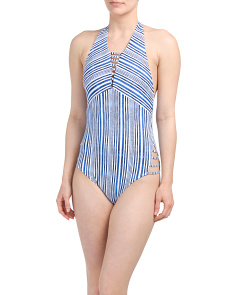 Alana Stripe One-piece Swimsuit