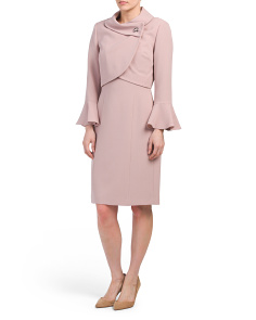 Crepe Dress With Jacket Set
