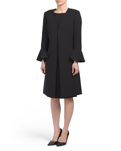 Crepe Jacket & Sheath Dress Set