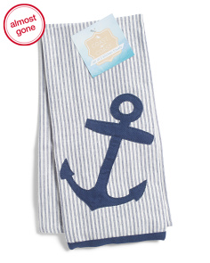 Made In India Set Of 2 Anchor Kitchen Towels