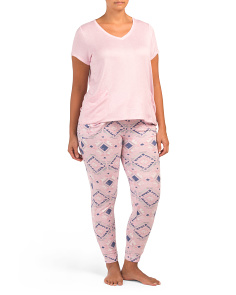 Plus Geometric Pattern Jogger Set