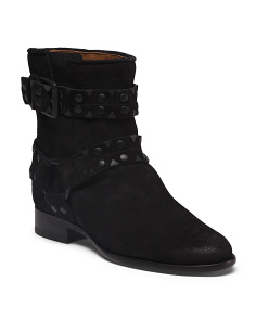 Short Studded Suede Boots