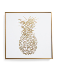 16x16 Framed Foil Pineapple Wall Art