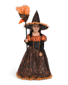 Witch Costume With Hat & Broom