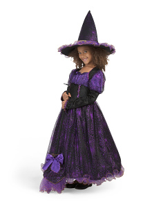 Toddler Witch Costume With Hat & Broom