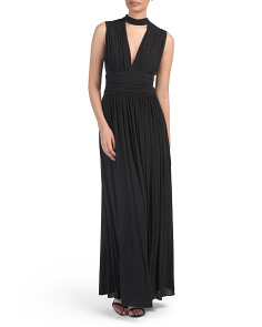 Deep V Long Gown