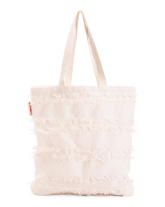 Solid Fringe Everyday Tote