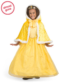 Kids Magical Princess Costume With Capelet